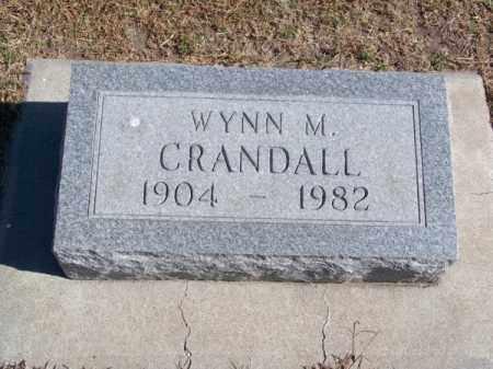 CRANDALL, WYNN M. - Brown County, Nebraska | WYNN M. CRANDALL - Nebraska Gravestone Photos