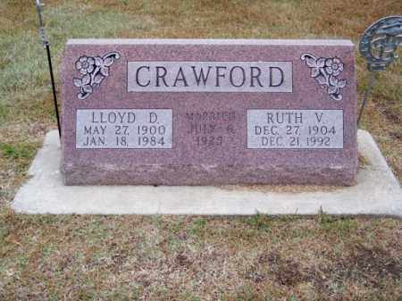 CRAWFORD, LLOYD D. - Brown County, Nebraska | LLOYD D. CRAWFORD - Nebraska Gravestone Photos