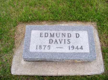 DAVIS, EDMUND D. - Brown County, Nebraska | EDMUND D. DAVIS - Nebraska Gravestone Photos