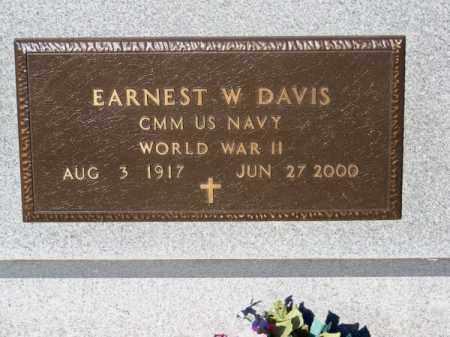 DAVIS, EARNEST W. - Brown County, Nebraska | EARNEST W. DAVIS - Nebraska Gravestone Photos