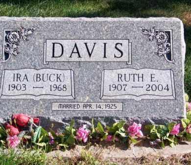 DAVIS, RUTH E. - Brown County, Nebraska   RUTH E. DAVIS - Nebraska Gravestone Photos