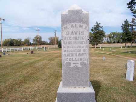 DAVIS, M. ALMA - Brown County, Nebraska | M. ALMA DAVIS - Nebraska Gravestone Photos