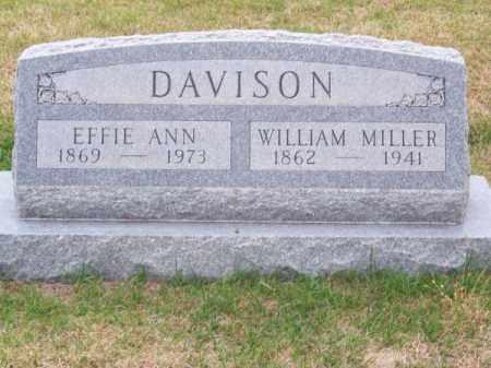 DAVISON, WILLIAM MILLER - Brown County, Nebraska   WILLIAM MILLER DAVISON - Nebraska Gravestone Photos