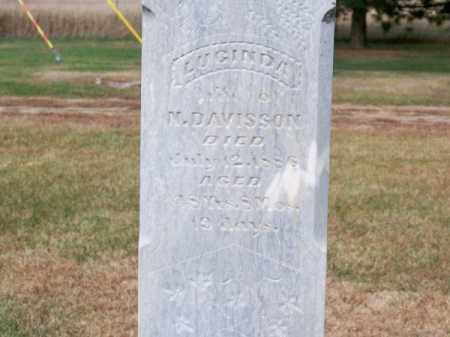 DAVISSON, LUCINDA - Brown County, Nebraska | LUCINDA DAVISSON - Nebraska Gravestone Photos