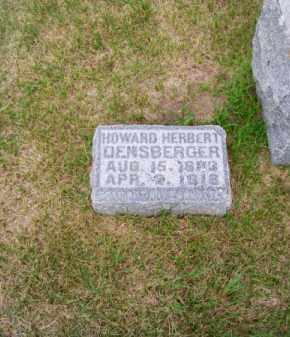 DENSBERGER, HOWARD HERBERT - Brown County, Nebraska | HOWARD HERBERT DENSBERGER - Nebraska Gravestone Photos