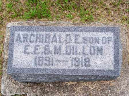 DILLON, ARCHIBALD E. - Brown County, Nebraska | ARCHIBALD E. DILLON - Nebraska Gravestone Photos