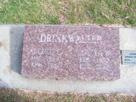 DRINKWALTER, LOUISA W. - Brown County, Nebraska | LOUISA W. DRINKWALTER - Nebraska Gravestone Photos