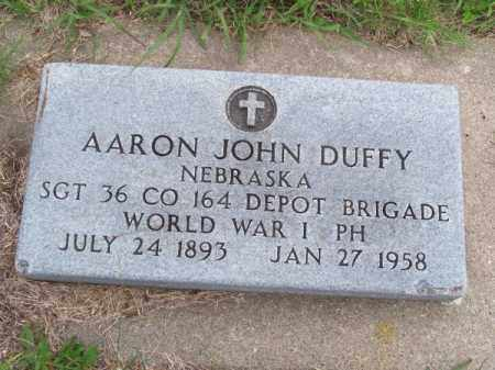 DUFFY, AARON JOHN - Brown County, Nebraska | AARON JOHN DUFFY - Nebraska Gravestone Photos