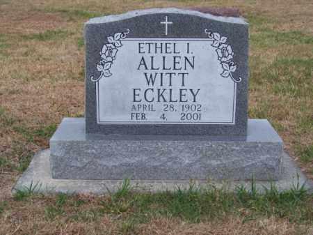ECKLEY, ETHEL I. - Brown County, Nebraska | ETHEL I. ECKLEY - Nebraska Gravestone Photos