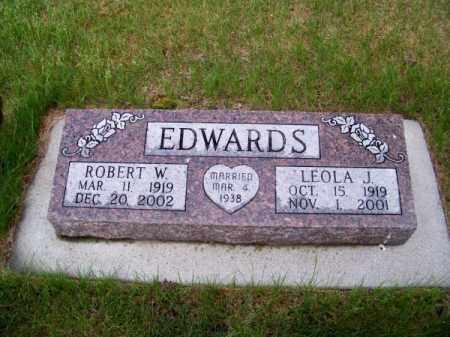 EDWARDS, ROBERT W. - Brown County, Nebraska   ROBERT W. EDWARDS - Nebraska Gravestone Photos