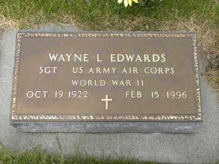 EDWARDS, WAYNE LUDWIG - Brown County, Nebraska | WAYNE LUDWIG EDWARDS - Nebraska Gravestone Photos