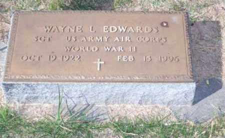 EDWARDS, WAYNE L. - Brown County, Nebraska | WAYNE L. EDWARDS - Nebraska Gravestone Photos