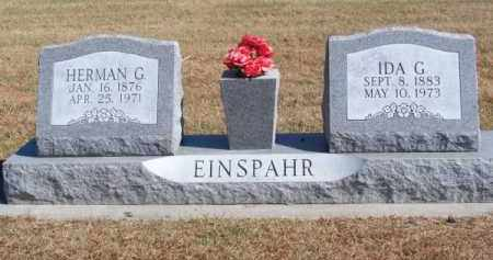 EINSPAHR, IDA G. - Brown County, Nebraska   IDA G. EINSPAHR - Nebraska Gravestone Photos