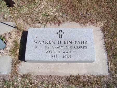 EINSPAHR, WARREN H. - Brown County, Nebraska | WARREN H. EINSPAHR - Nebraska Gravestone Photos