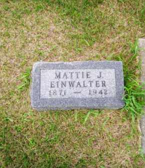 EINWALTER, MATTIE J. - Brown County, Nebraska | MATTIE J. EINWALTER - Nebraska Gravestone Photos