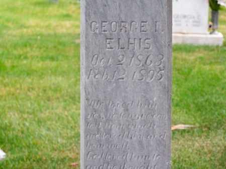 ELHIS, GEORGE I. - Brown County, Nebraska   GEORGE I. ELHIS - Nebraska Gravestone Photos
