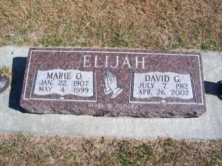 ELIJAH, MARIE O. - Brown County, Nebraska | MARIE O. ELIJAH - Nebraska Gravestone Photos