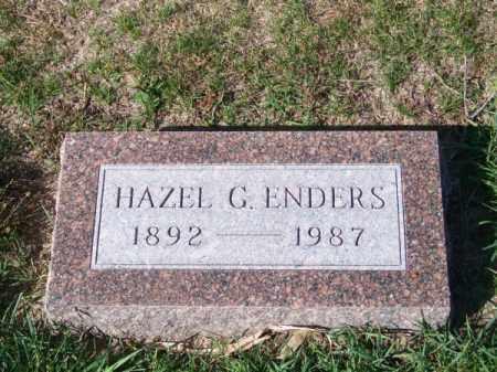ENDERS, HAZEL G. - Brown County, Nebraska | HAZEL G. ENDERS - Nebraska Gravestone Photos