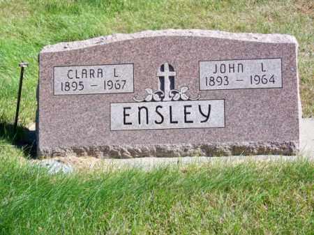 ENSLEY, JOHN L. - Brown County, Nebraska | JOHN L. ENSLEY - Nebraska Gravestone Photos