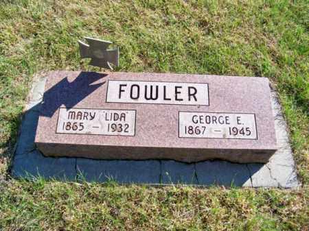 FOWLER, GEORGE E. - Brown County, Nebraska   GEORGE E. FOWLER - Nebraska Gravestone Photos