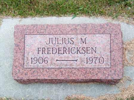FREDERICKSEN, JULIUS M. - Brown County, Nebraska   JULIUS M. FREDERICKSEN - Nebraska Gravestone Photos