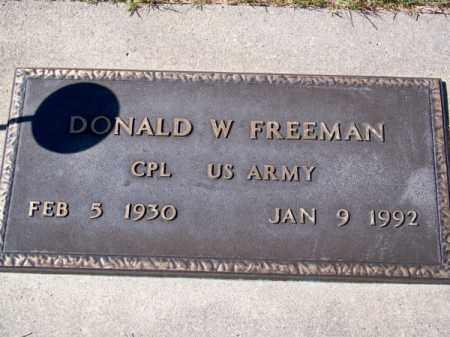 FREEMAN, DONALD W. - Brown County, Nebraska | DONALD W. FREEMAN - Nebraska Gravestone Photos