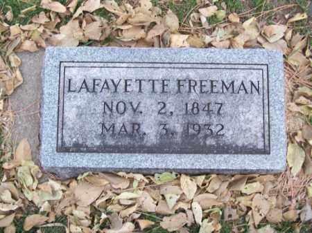 FREEMAN, LAFAYETTE - Brown County, Nebraska   LAFAYETTE FREEMAN - Nebraska Gravestone Photos