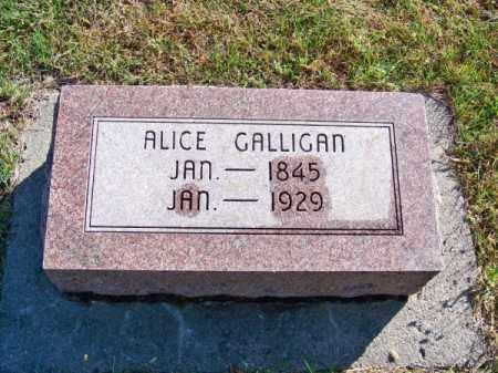 GALLIGAN, ALICE - Brown County, Nebraska   ALICE GALLIGAN - Nebraska Gravestone Photos