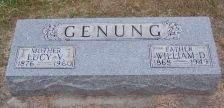 GENUNG, WILLIAM D. - Brown County, Nebraska   WILLIAM D. GENUNG - Nebraska Gravestone Photos