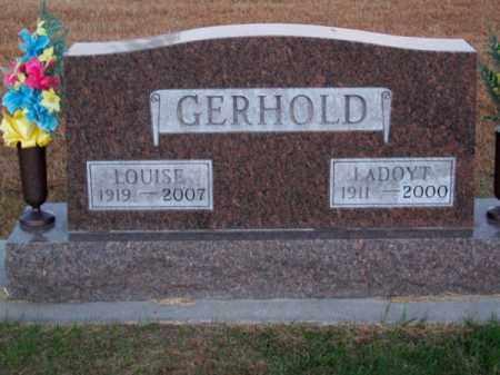 GERHOLD, LADOYT - Brown County, Nebraska | LADOYT GERHOLD - Nebraska Gravestone Photos