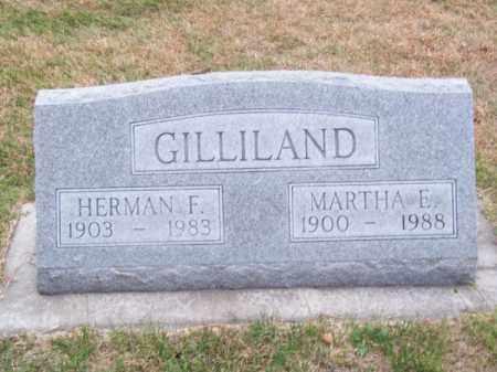GILLILAND, HERMAN F. - Brown County, Nebraska | HERMAN F. GILLILAND - Nebraska Gravestone Photos