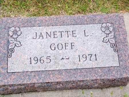 GOFF, JANETTE L. - Brown County, Nebraska | JANETTE L. GOFF - Nebraska Gravestone Photos