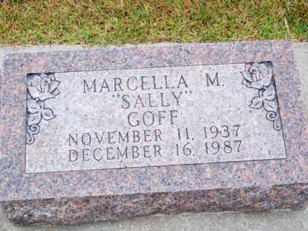 GOFF, MARCELLA M. (SALLY) - Brown County, Nebraska | MARCELLA M. (SALLY) GOFF - Nebraska Gravestone Photos