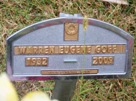 GOFF, WARREN EUGENE - Brown County, Nebraska   WARREN EUGENE GOFF - Nebraska Gravestone Photos