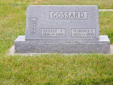 GOSSARD, ERNEST F. - Brown County, Nebraska | ERNEST F. GOSSARD - Nebraska Gravestone Photos