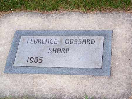 SHARP GOSSARD, FLORENCE - Brown County, Nebraska | FLORENCE SHARP GOSSARD - Nebraska Gravestone Photos
