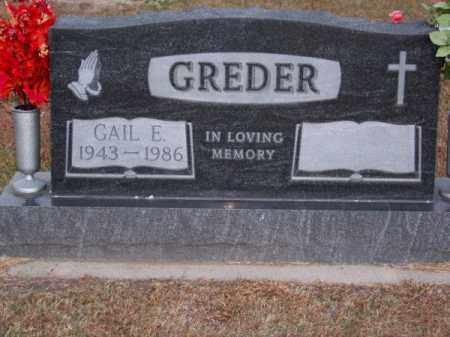 GREDER, GAIL E. - Brown County, Nebraska | GAIL E. GREDER - Nebraska Gravestone Photos