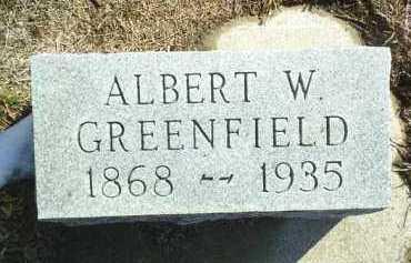 GREENFIELD, ALBERT - Brown County, Nebraska   ALBERT GREENFIELD - Nebraska Gravestone Photos