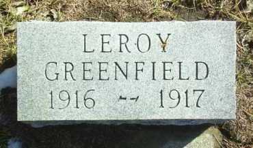 GREENFIELD, LEROY - Brown County, Nebraska   LEROY GREENFIELD - Nebraska Gravestone Photos