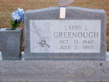 GREENOUGH, LARRY L. - Brown County, Nebraska | LARRY L. GREENOUGH - Nebraska Gravestone Photos