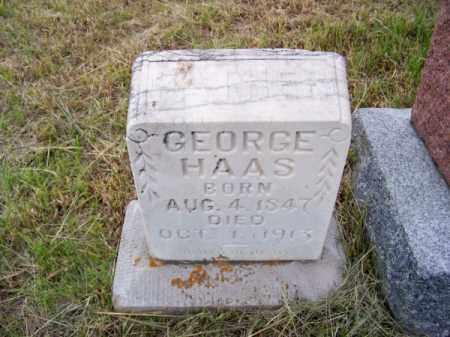 HAAS, GEORGE - Brown County, Nebraska | GEORGE HAAS - Nebraska Gravestone Photos