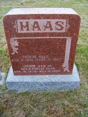 HAAS, PHOEBE - Brown County, Nebraska | PHOEBE HAAS - Nebraska Gravestone Photos