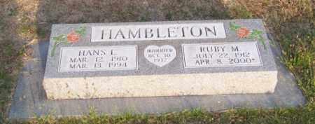 HAMBLETON, RUBY M. - Brown County, Nebraska | RUBY M. HAMBLETON - Nebraska Gravestone Photos