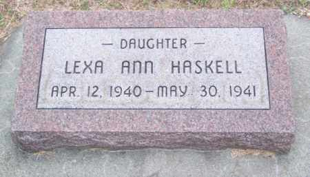 HASKELL, LEXA ANN - Brown County, Nebraska   LEXA ANN HASKELL - Nebraska Gravestone Photos
