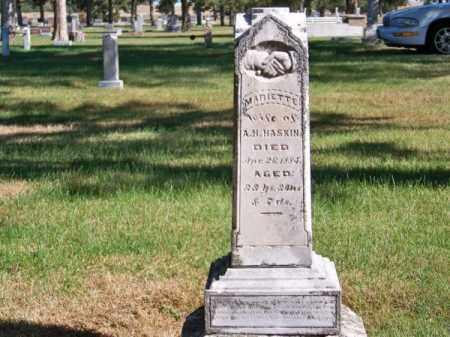 HASKIN, MARIETTE - Brown County, Nebraska | MARIETTE HASKIN - Nebraska Gravestone Photos