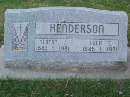 HENDERSON, ALBERT J. - Brown County, Nebraska | ALBERT J. HENDERSON - Nebraska Gravestone Photos