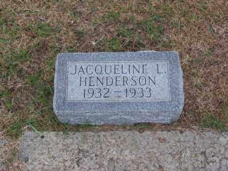 HENDERSON, JACQUELINE L. - Brown County, Nebraska   JACQUELINE L. HENDERSON - Nebraska Gravestone Photos