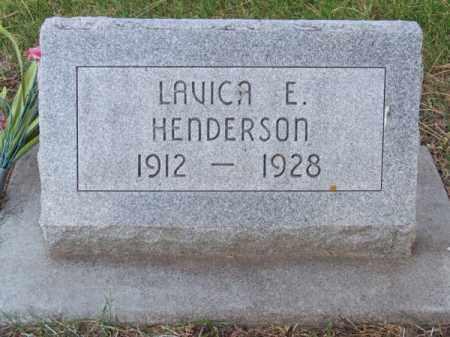 HENDERSON, LAVICA E. - Brown County, Nebraska | LAVICA E. HENDERSON - Nebraska Gravestone Photos