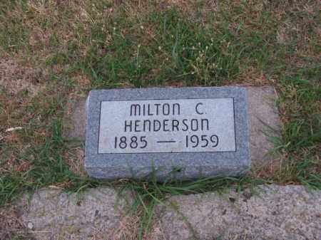 HENDERSON, MILTON C. - Brown County, Nebraska | MILTON C. HENDERSON - Nebraska Gravestone Photos