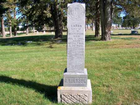 HENDERSON, SARAH - Brown County, Nebraska | SARAH HENDERSON - Nebraska Gravestone Photos